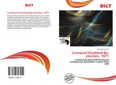 Bookcover of Liverpool Scotland By-election, 1971