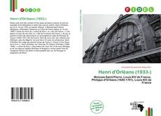Bookcover of Henri d'Orléans (1933-)