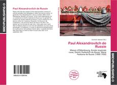 Bookcover of Paul Alexandrovitch de Russie