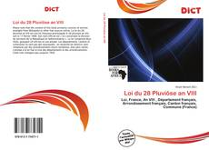 Bookcover of Loi du 28 Pluviôse an VIII