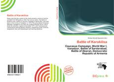 Bookcover of Battle of Karakilisa