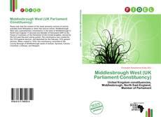 Buchcover von Middlesbrough West (UK Parliament Constituency)