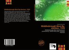 Buchcover von Middlesbrough West By-election, 1928