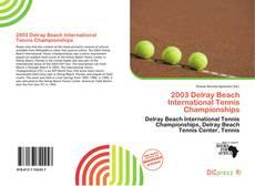 2003 Delray Beach International Tennis Championships的封面