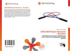 Bookcover of 2003 BCR Open Romania – Doubles
