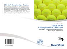 Capa do livro de 2003 AAPT Championships – Doubles