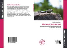 Bookcover of Mahendralal Sarkar