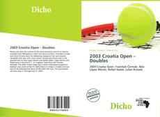 Bookcover of 2003 Croatia Open – Doubles