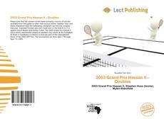 Обложка 2003 Grand Prix Hassan II – Doubles