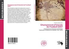 Bookcover of Championnat d'Islande de Football 2007