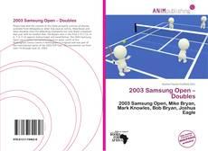 Couverture de 2003 Samsung Open – Doubles