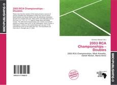 Borítókép a  2003 RCA Championships – Doubles - hoz