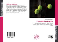 Bookcover of 2003 MercedesCup