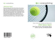 Bookcover of 2003 Qatar Open