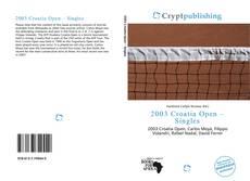 Bookcover of 2003 Croatia Open – Singles