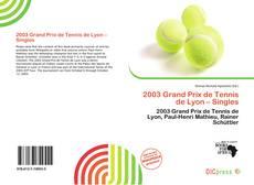 Couverture de 2003 Grand Prix de Tennis de Lyon – Singles