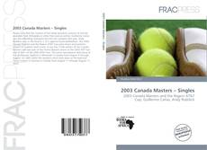 Bookcover of 2003 Canada Masters – Singles