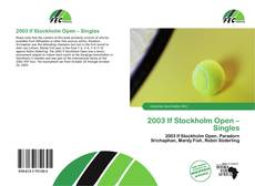 Bookcover of 2003 If Stockholm Open – Singles
