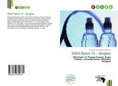 Couverture de 2003 Open 13 – Singles