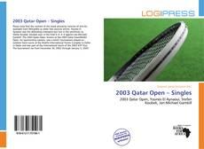 Bookcover of 2003 Qatar Open – Singles