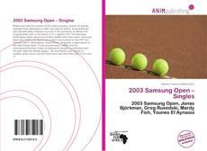 Couverture de 2003 Samsung Open – Singles