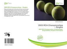Bookcover of 2003 RCA Championships – Singles