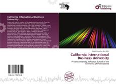 Обложка California International Business University