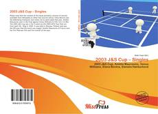 Bookcover of 2003 J&S Cup – Singles