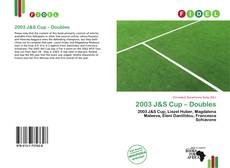 Bookcover of 2003 J&S Cup – Doubles