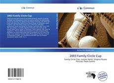 Bookcover of 2003 Family Circle Cup
