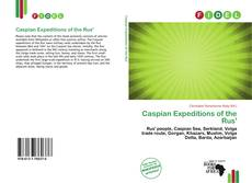 Bookcover of Caspian Expeditions of the Rus'