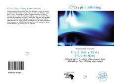 Bookcover of Civic Unity Party (Azerbaijan)