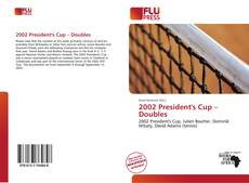 Bookcover of 2002 President's Cup – Doubles