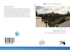 Couverture de Maxim's Paris