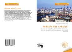 Bookcover of William Pitt l'Ancien