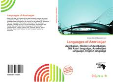 Bookcover of Languages of Azerbaijan