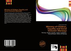 Buchcover von Ministry of Children, Equality and Social Inclusion (Norway)