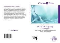 Bookcover of David Orton (Deep Ecology)