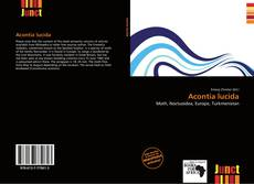 Bookcover of Acontia lucida