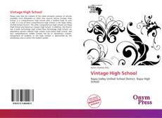 Bookcover of Vintage High School