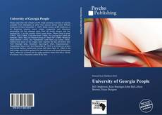 Bookcover of University of Georgia People