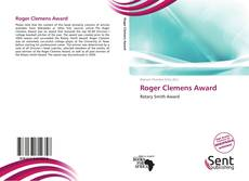 Bookcover of Roger Clemens Award