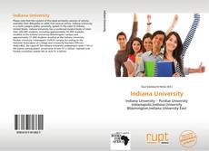 Bookcover of Indiana University