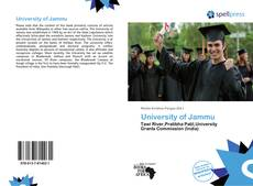 Bookcover of University of Jammu