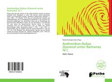 Capa do livro de Andronikos Dukas (General unter Romanos IV.)