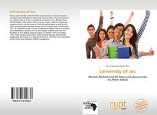 Bookcover of University of Jos