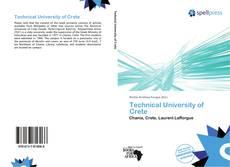 Bookcover of Technical University of Crete
