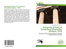 Capa do livro de University of Kent at Canterbury Chancellor election, 1970
