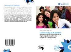 Bookcover of University of Kashmir