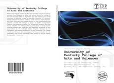 Buchcover von University of Kentucky College of Arts and Sciences